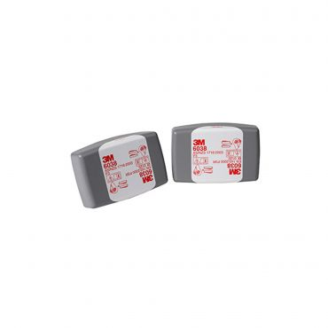 Pair of 3M 6038 Spark-resistant Particulate filters P2/P3HF OV/AG (6038)