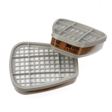 Pair of 3M 6055 Organic Vapour Filters A2 (6055)