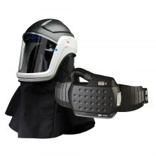 3M M-Series Flip-Up Face Shield & Safety Helmet M-407 with Heavy-Duty Adflo PAPR (890407HD)