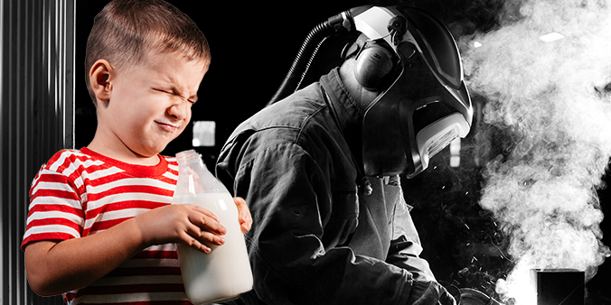 Does drinking milk protect you from welding fume?